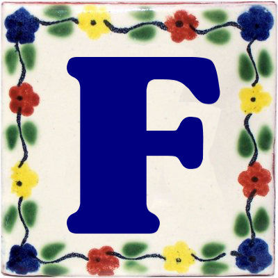 Bouquet Talavera Clay House Letter F