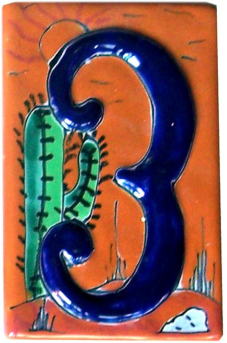 Desert Talavera Ceramic House Number Three