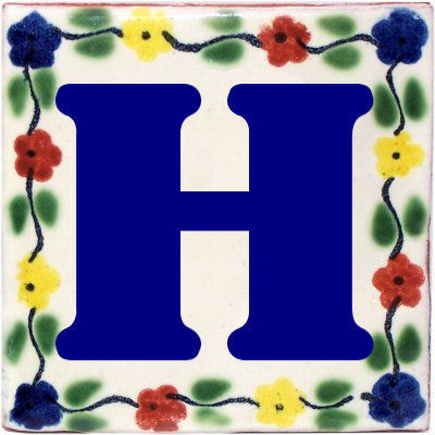 Bouquet Talavera Clay House Letter H