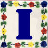Bouquet Talavera Clay House Letter I