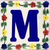 Bouquet Talavera Clay House Letter M