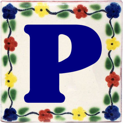 Bouquet Talavera Clay House Letter P