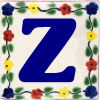 Bouquet Talavera Clay House Letter Z