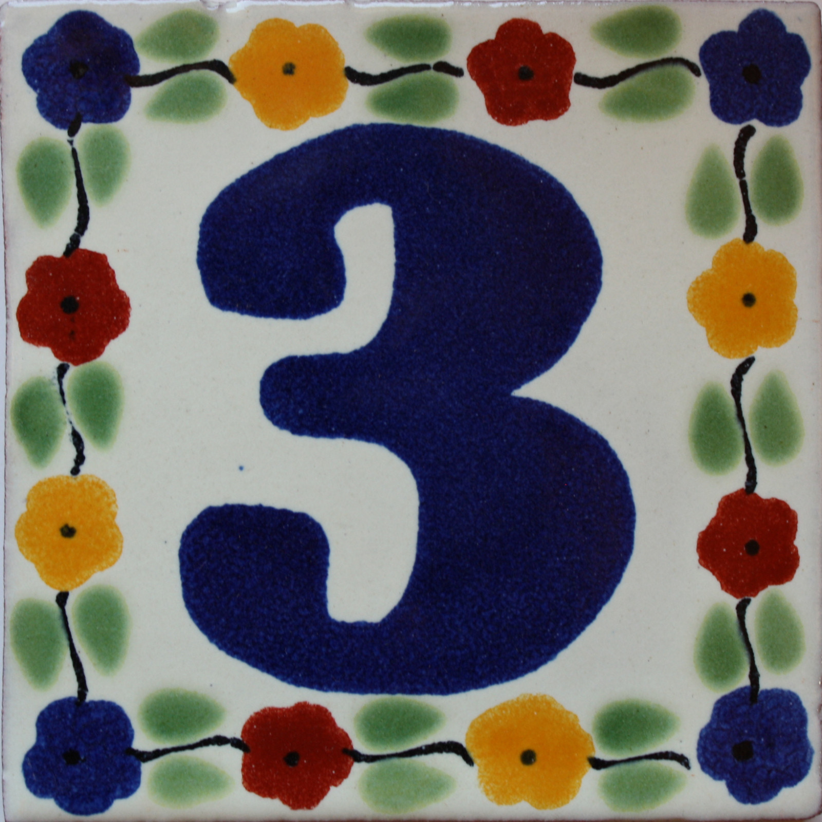 Bouquet Talavera Tile Number Three