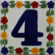Bouquet Talavera Tile Number Four