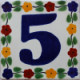 Bouquet Talavera Tile Number Five
