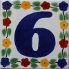 Bouquet Talavera Tile Number Six