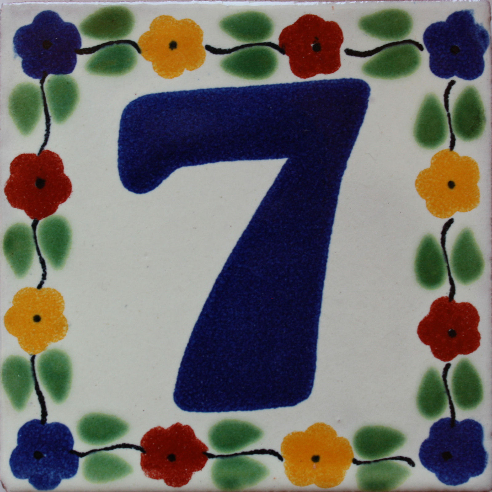 Bouquet Talavera Tile Number Seven