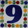 Bouquet Talavera Tile Number Nine