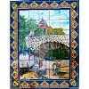Ped Bridge. Clay Talavera Tile Mural