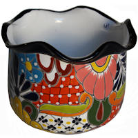 Aranza Mexican Colors Talavera Ceramic Garden Pot