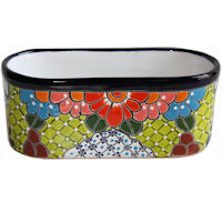 Cuna Mexican Colors Talavera Ceramic Garden Pot