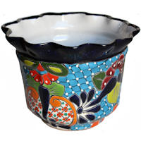 Duero Mexican Colors Talavera Ceramic Garden Pot