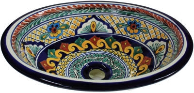 Meadow Ceramic Talavera Sink Close-Up