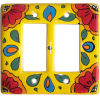 Canary Talavera Double Decora Switch Plate