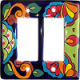 Rainbow Talavera Double Decora Switch Plate