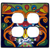 Rainbow Talavera Double Outlet Switch Plate