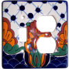Turtle Talavera Toggle-Outlet Switch Plate