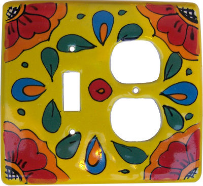 Canary Talavera Toggle-Outlet Switch Plate