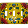 Canary Talavera Triple Toggle Switch Plate