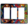 Rainbow Talavera Triple Decora Switch Plate