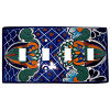 Blue Mesh Talavera Quadruple Toggle Switch Plate