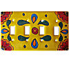Canary Talavera Quadruple Toggle Switch Plate