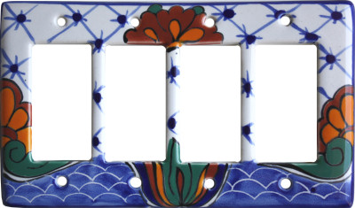 Turtle Talavera Quadruple Decora Switch Plate