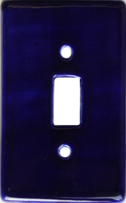 Cobalt Blue Talavera Single Switch Plate