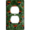 Green Peacock Talavera Ceramic Switch Outlet