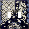 Double Toggle Traditional Talavera Ceramic Switch Plate