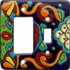Rainbow Talavera Toggle-GFI Switch Plate