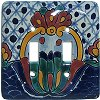 Double Toggle Turtle Talavera Ceramic Switch Plate