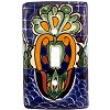 Single Toggle Blue Mesh Talavera Switch Plate