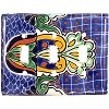 Triple Toggle Blue Mesh Talavera Switch Plate