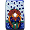 Turtle Talavera TV Cable Plate