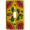 Canary Talavera Single Toggle Switch Plate