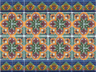 Blue Crown Talavera Ceramic Tile