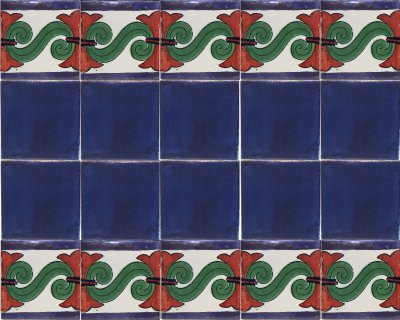 Blue Cobalt Talavera Ceramic Tile