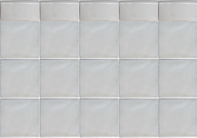 Pure White Talavera Mexican Tile Close-Up