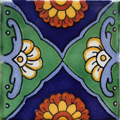 Green Sea Talavera Mexican Tile