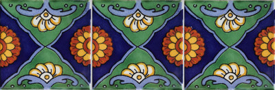 Green Sea Talavera Mexican Tile Details