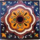 Full Concha Flower Talavera Mexican Tile