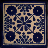 Blue Damasco Talavera Mexican Tile