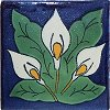Three-Lily Talavera Ceramic Tile