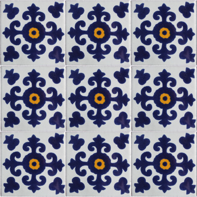 Valencia Talavera Mexican Tile Close-Up