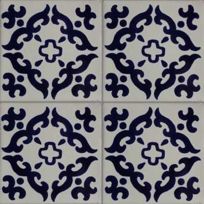 Barroco Talavera Mexican Tile Close-Up