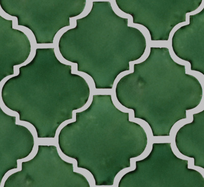 Lantern Green Mexican Tile Close-Up