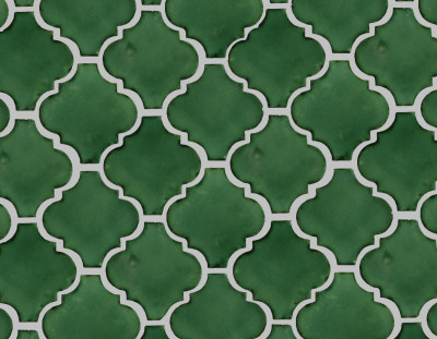 Lantern Green Mexican Tile Details