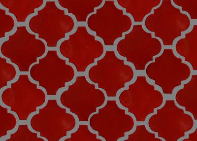 Lantern Red Mexican Tile Details